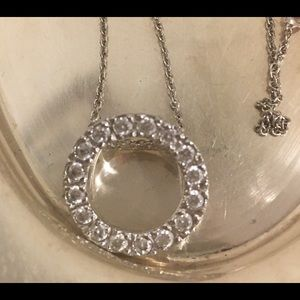 """Jewelry - 18"""" .925 sterling chain and infinity CZ pendant"""